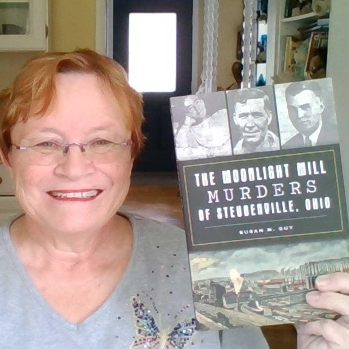 Susan with Moonlight Mill Murders Book